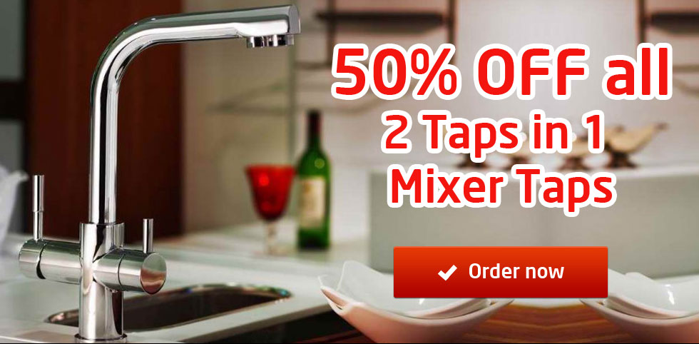 Save 50% OFF all 2 taps in 1 Kitchen Mixer