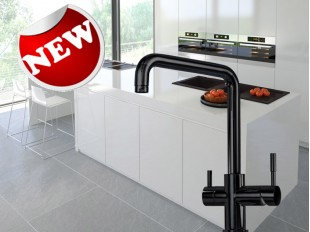 Industry 3 Way Mixer Tap BLACK