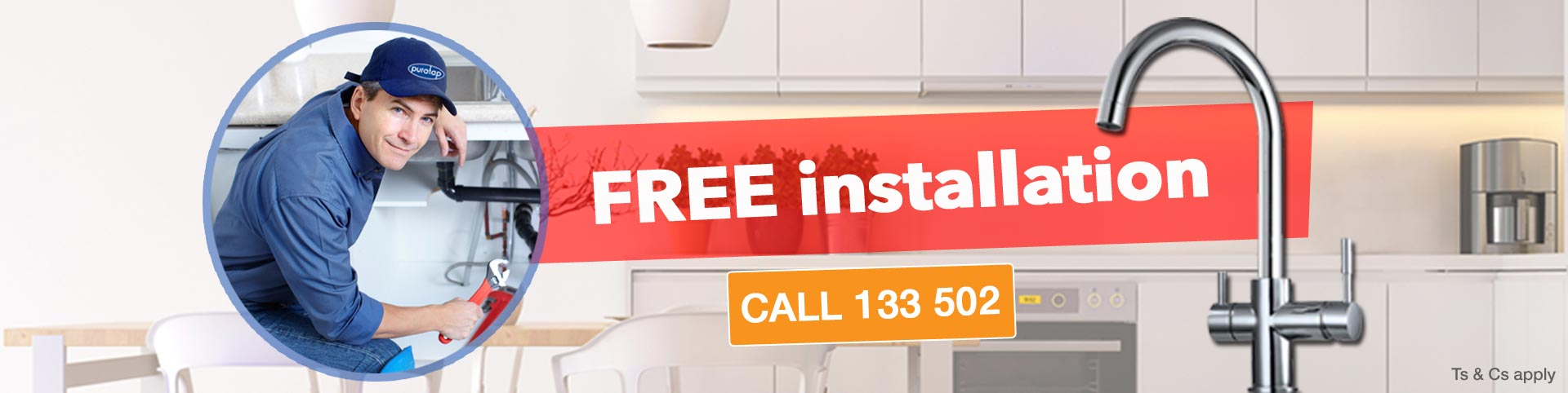Free installation | Puratap | Water Filters Specialist in Adelaide