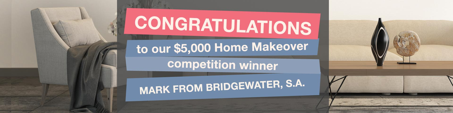 Congratulations to the winner of 'win a $5000 makeover' | Puratap | Water Filters Specialist in Adelaide