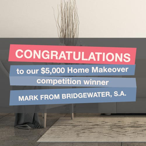 Congratulations to the winner of win a $5000 home makeover  | Puratap | Water Filters Specialist in Adelaide